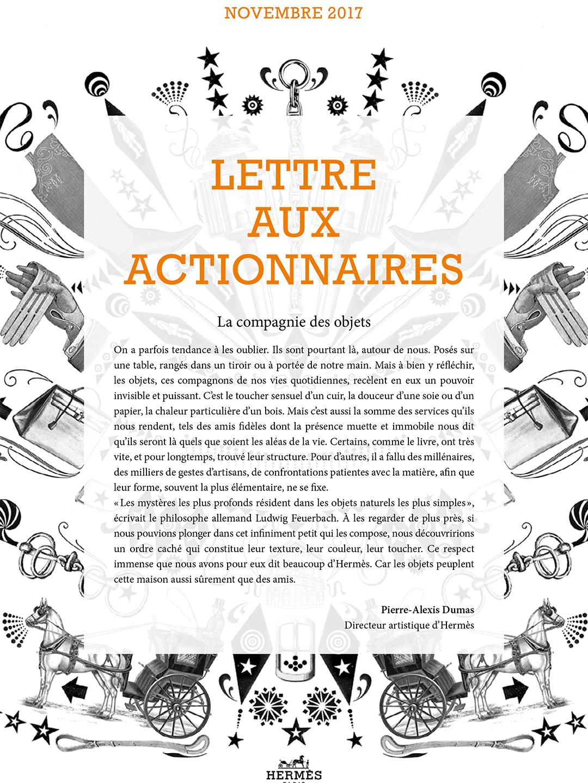 Couverture Lettre aux actionnaires - Novembre 2018