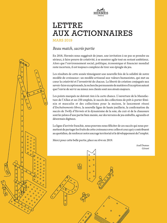 Couverture Lettre aux actionnaires - Mars 2019