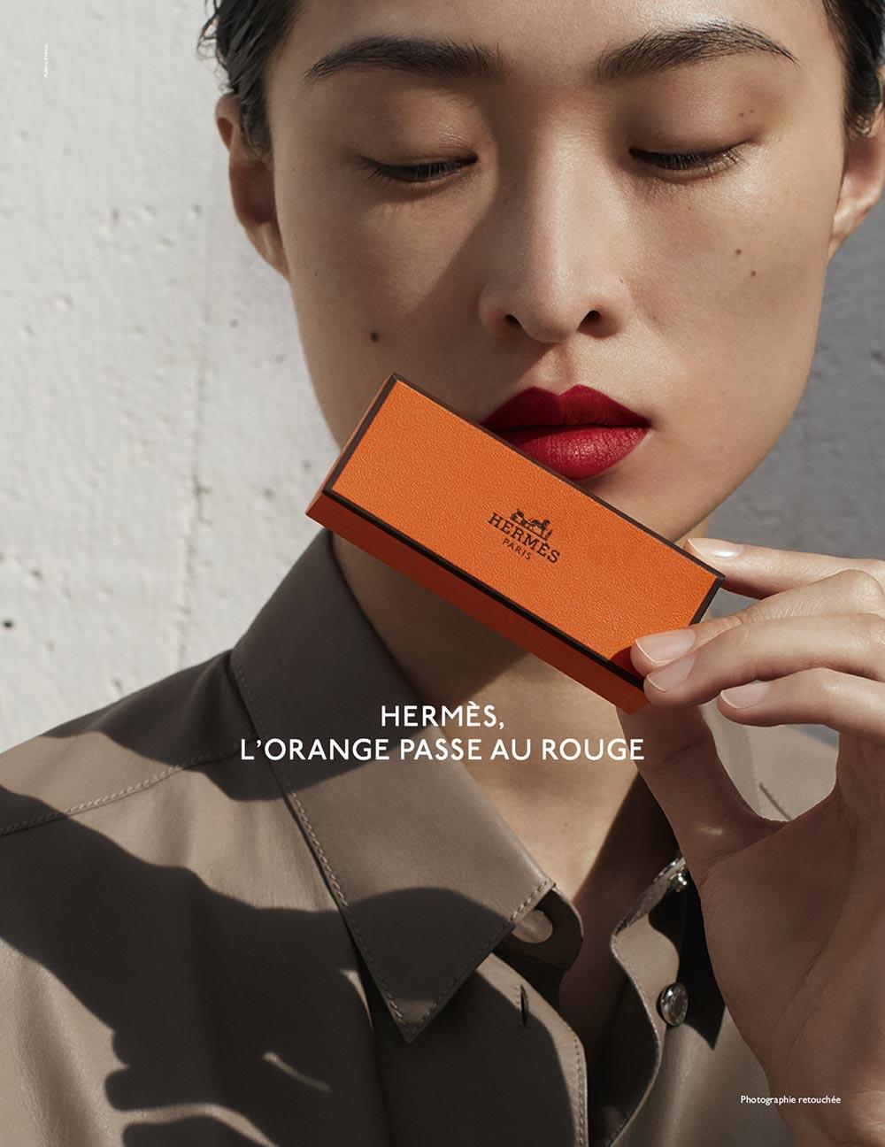 Hermès, l'orange passe au rouge
