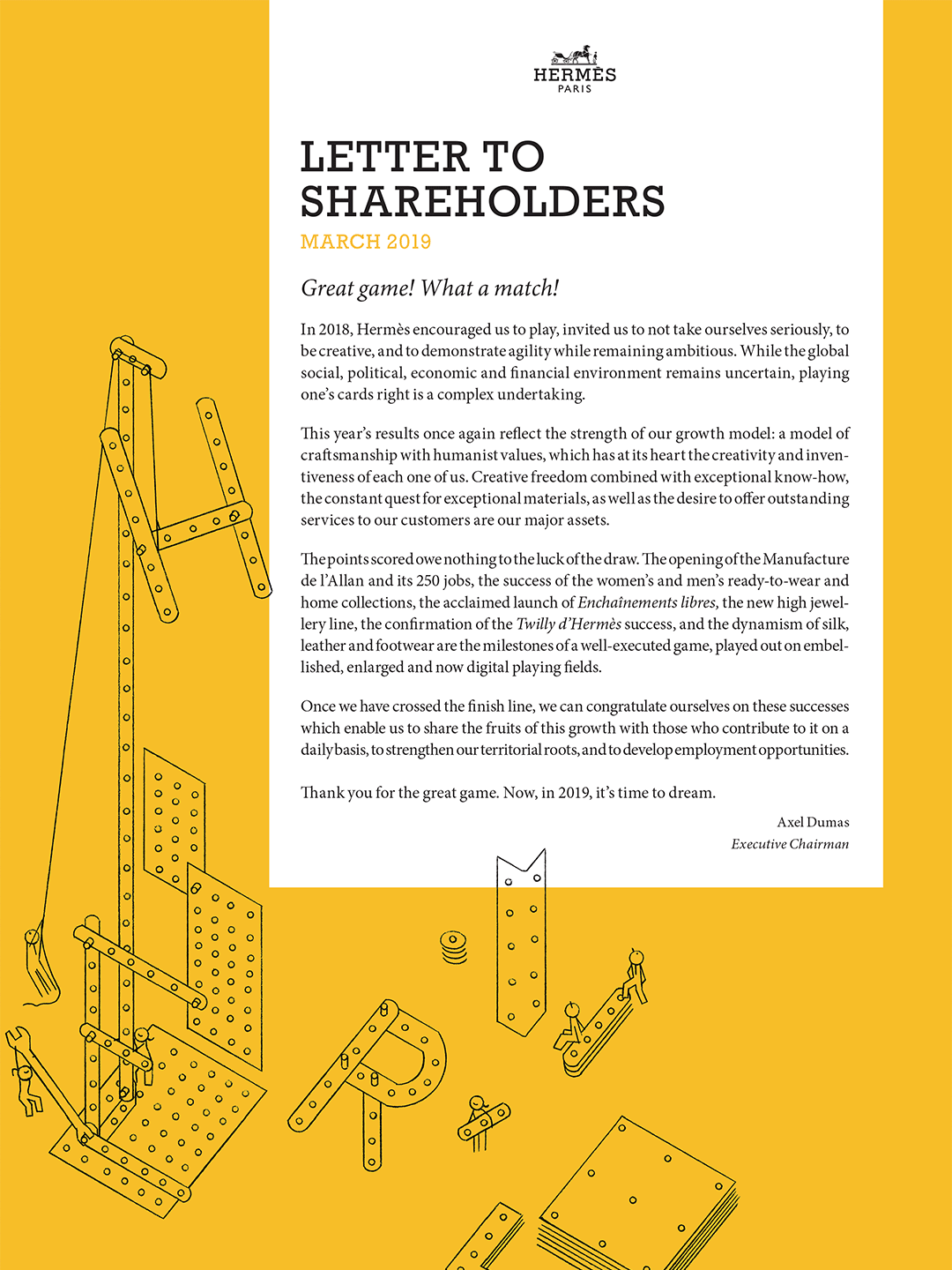 Cover Letter to shareholders - April 2019