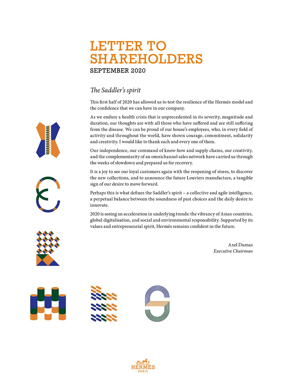 Cover Letter to Shareholders - Sept. 2020