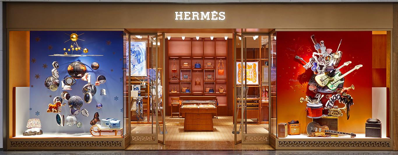 Vitrine magasin Hermès