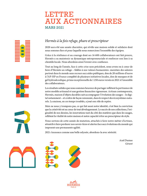 Couverture Lettre aux actionnaires - Mars 2021